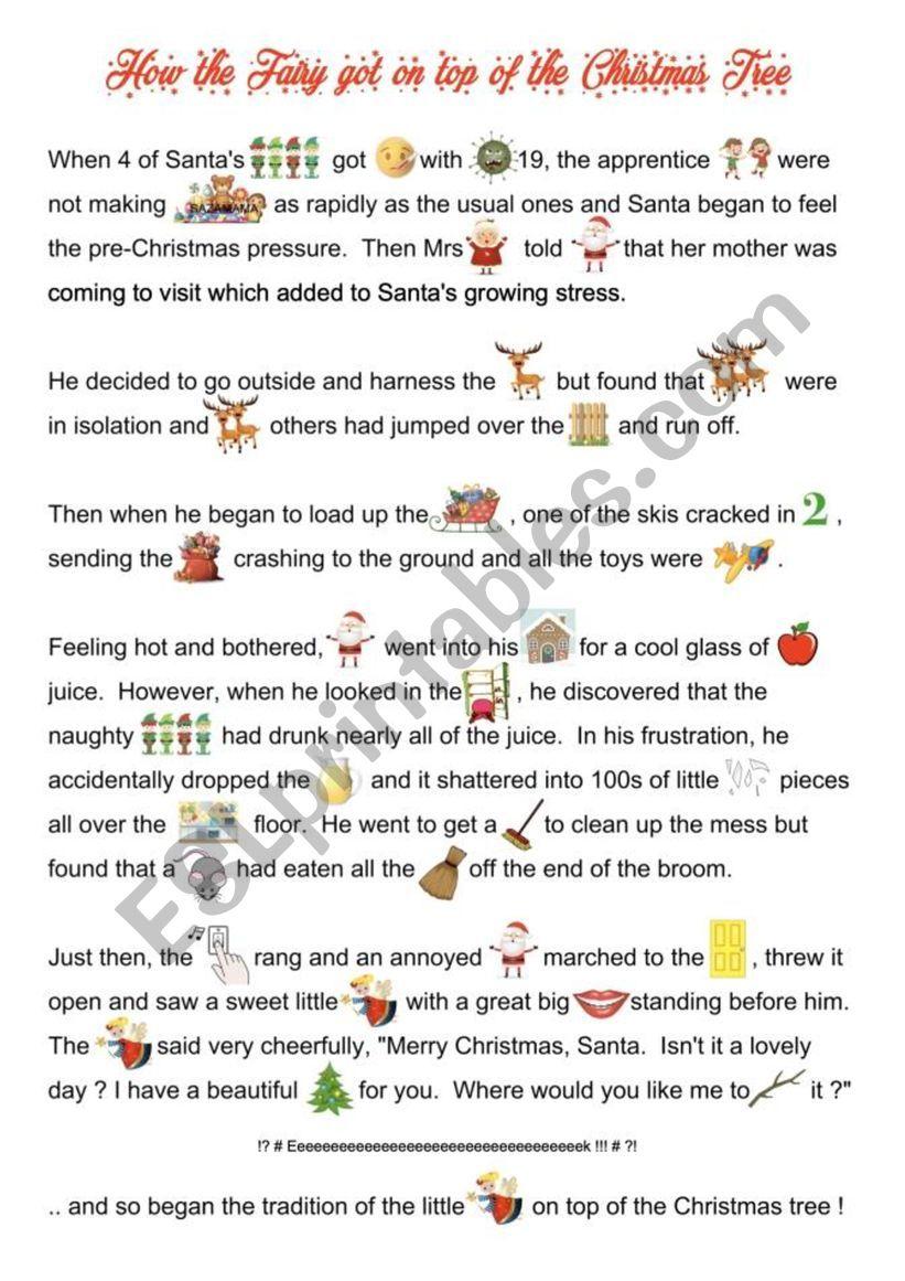Christmas Fairy Story worksheet