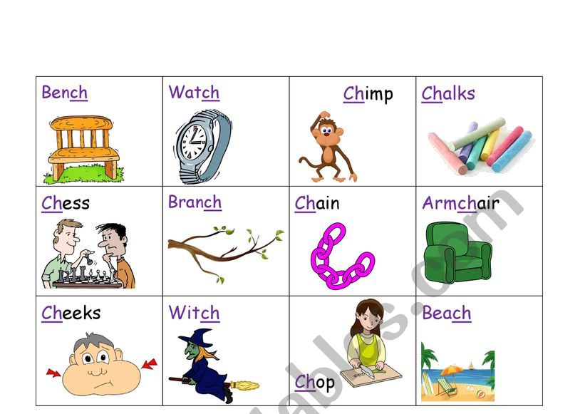 CH diagraph part 2  worksheet