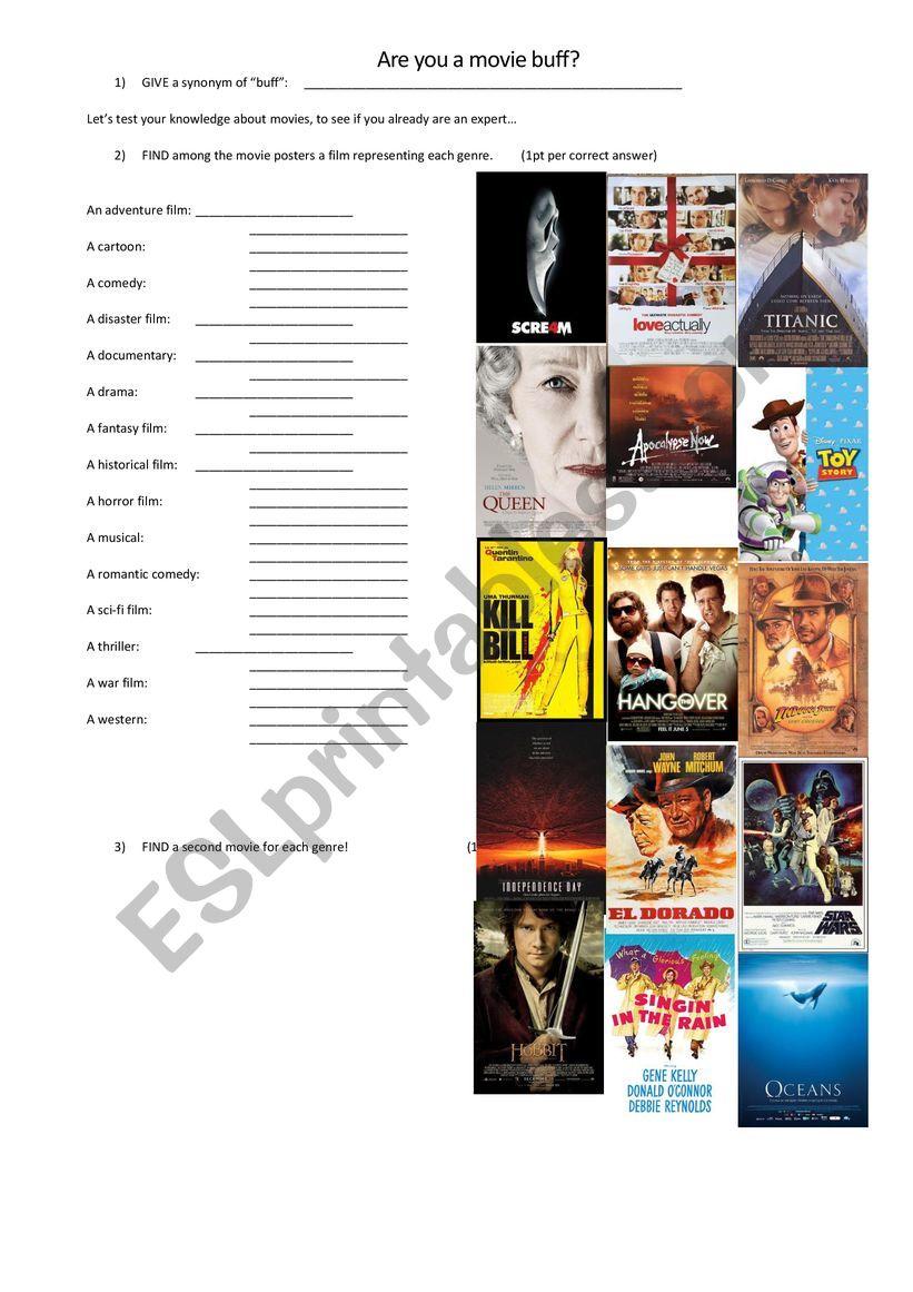 Movie buff worksheet