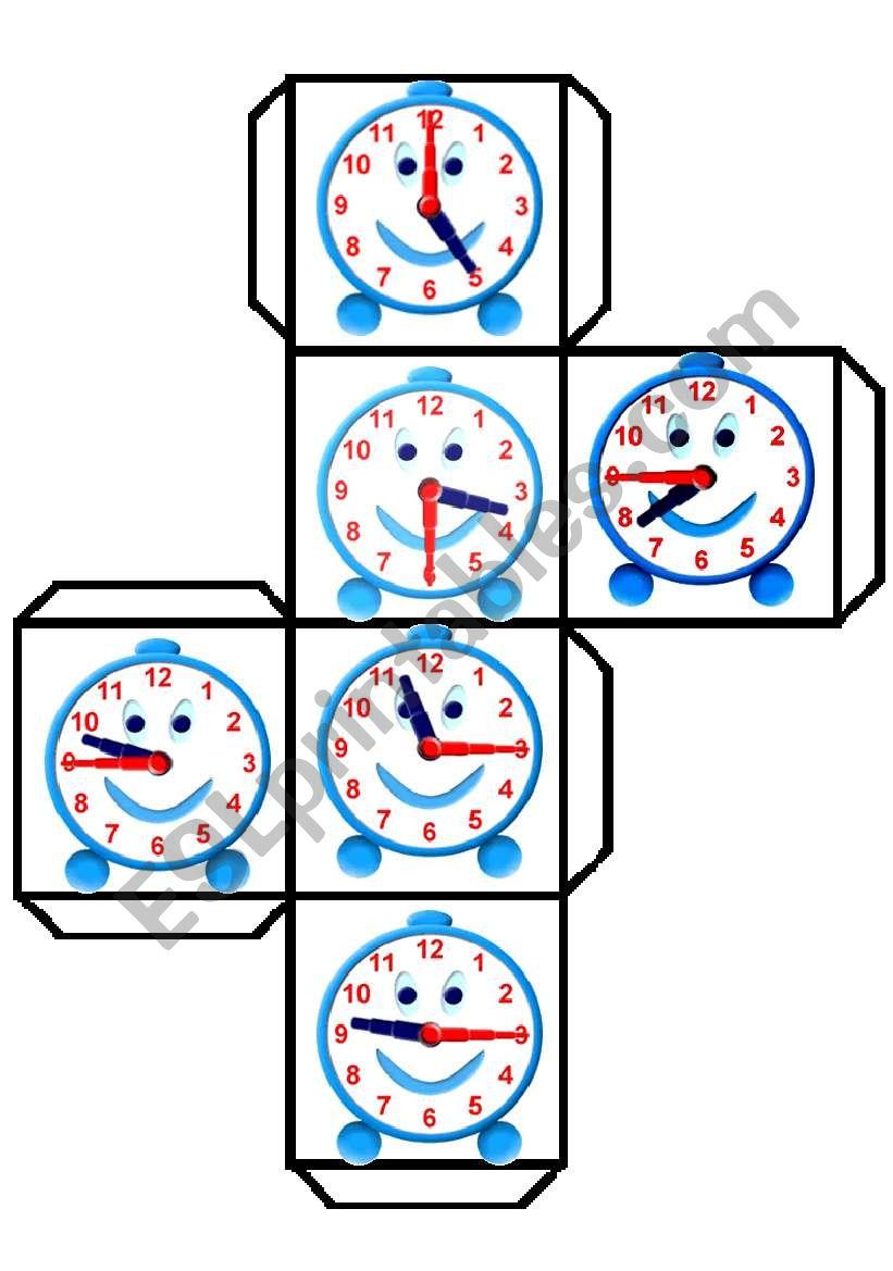 TIME DICE 2 worksheet