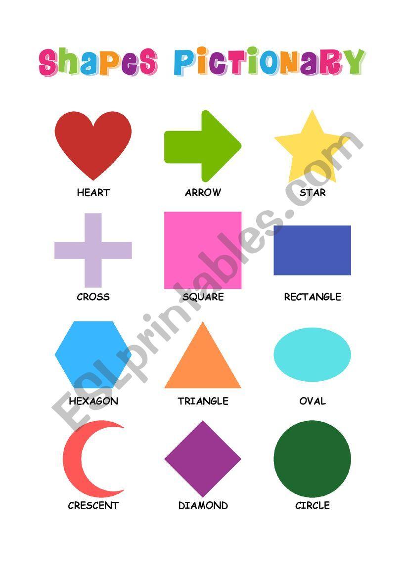 Shapes Pictionary worksheet