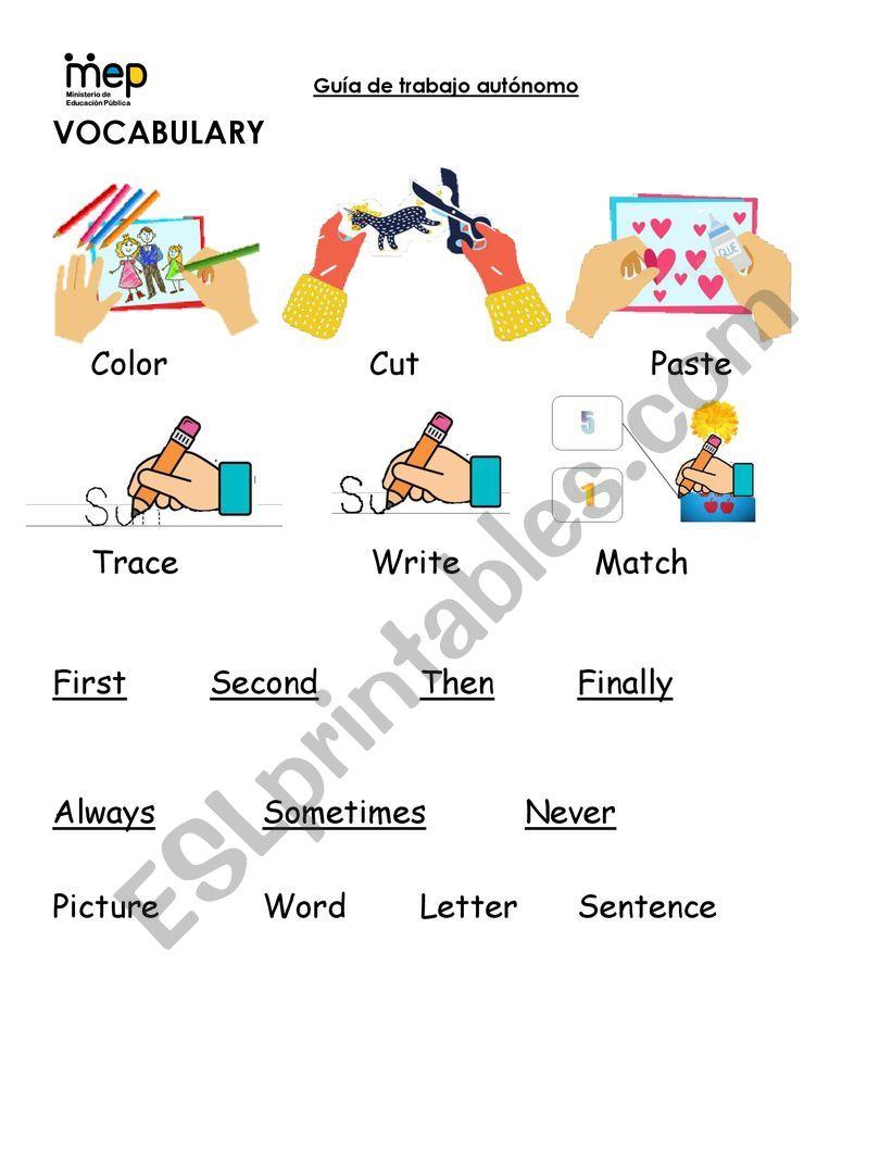 Class basic Instructions worksheet