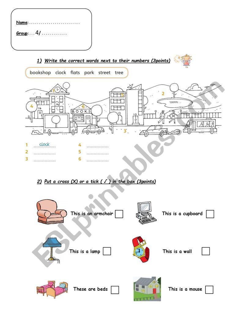 beginners test worksheet