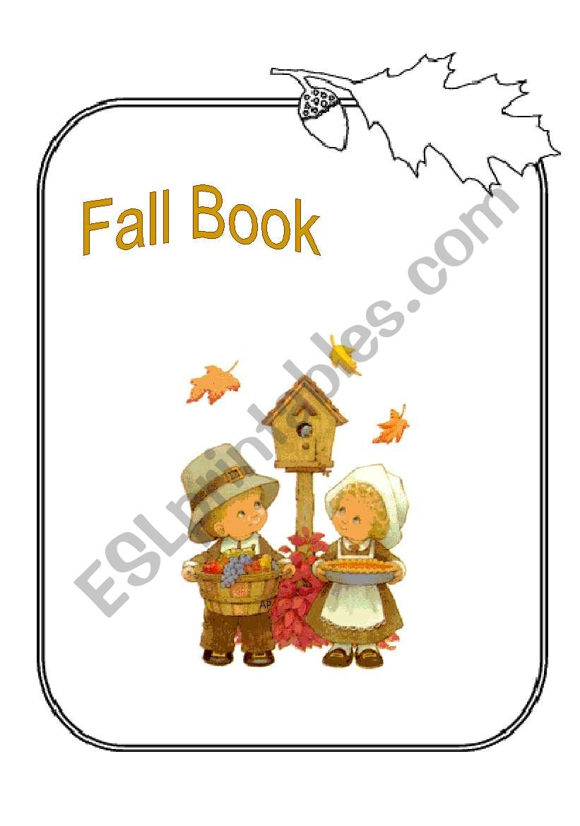 fall book  worksheet