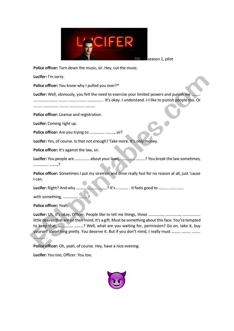 Lucifer - pilot worksheet