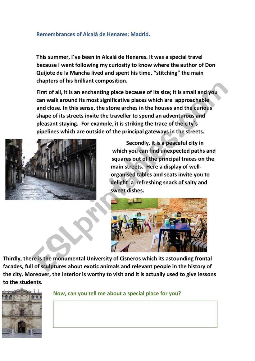 Remembrances of Alcalá de Henares. A great city. Madrid