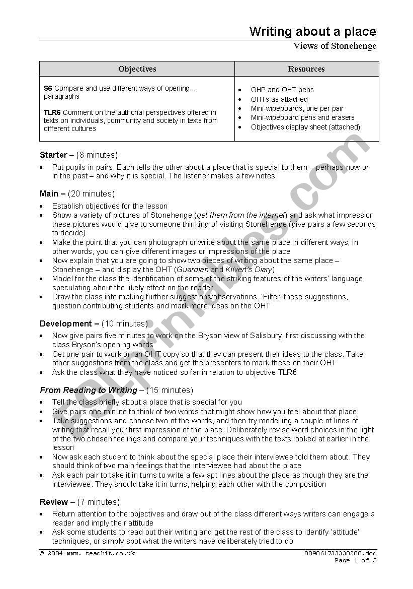 Stonehenge worksheet worksheet