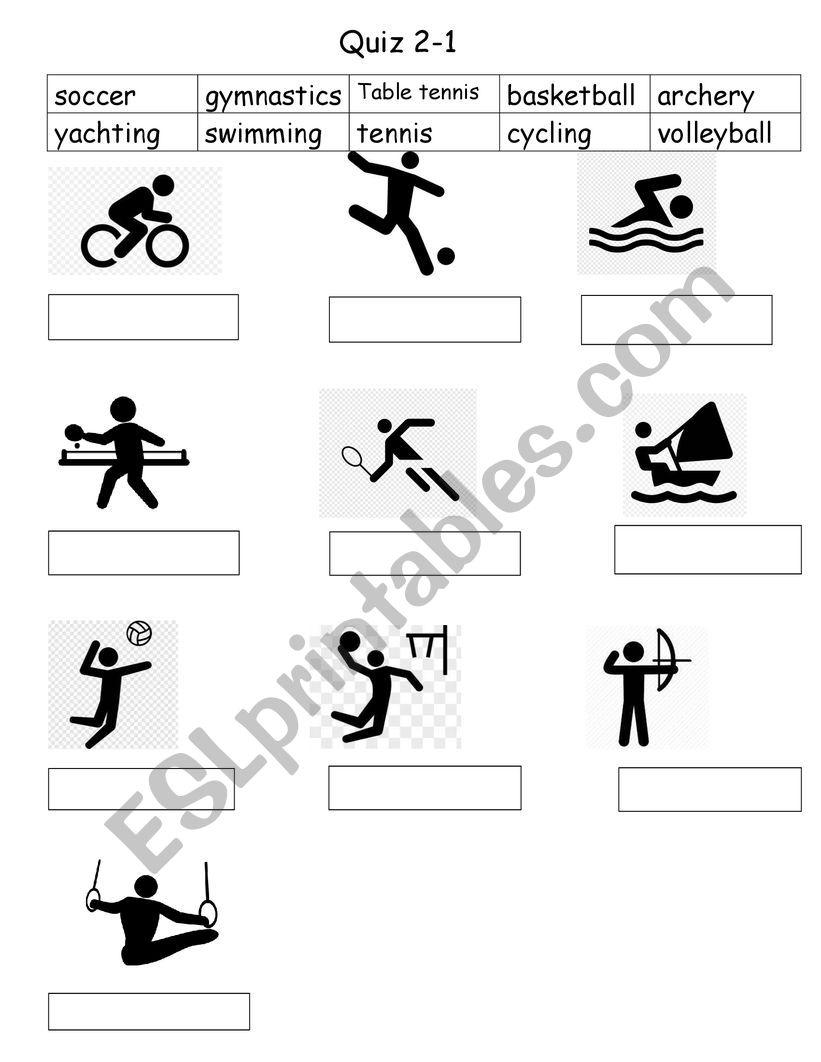 olympic games worksheet
