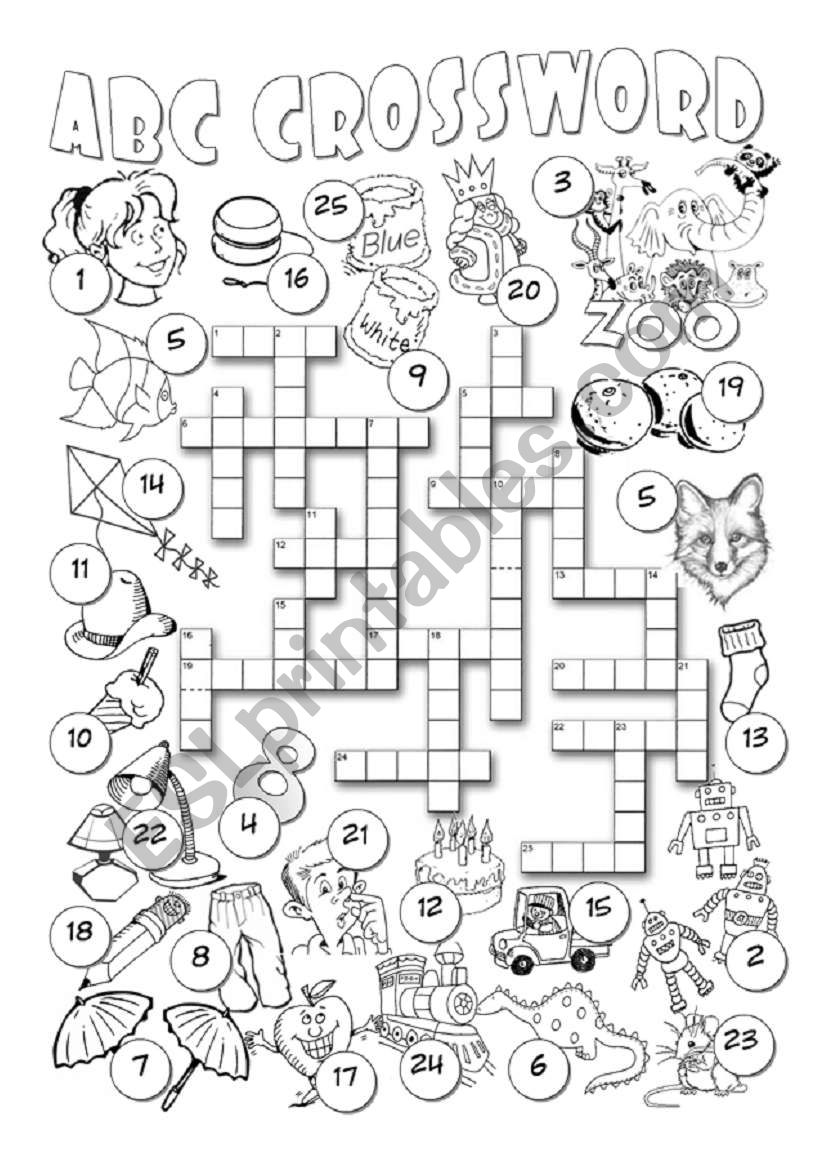 Alphabet Crossword worksheet