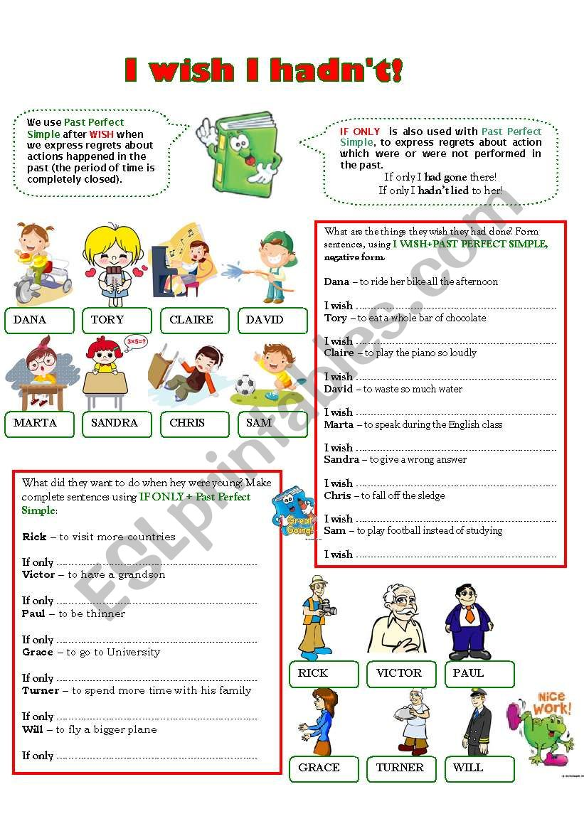 I WISH I HADN´T! worksheet