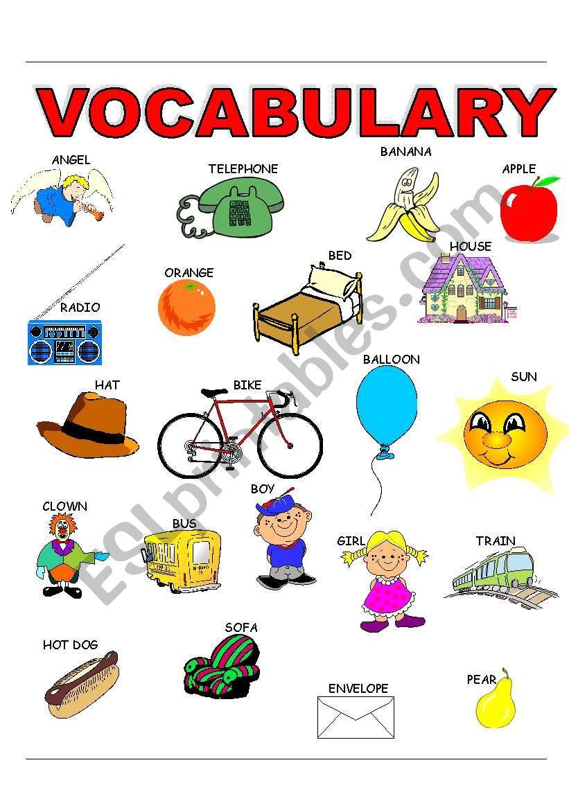 VOCABULARY_KINDER worksheet