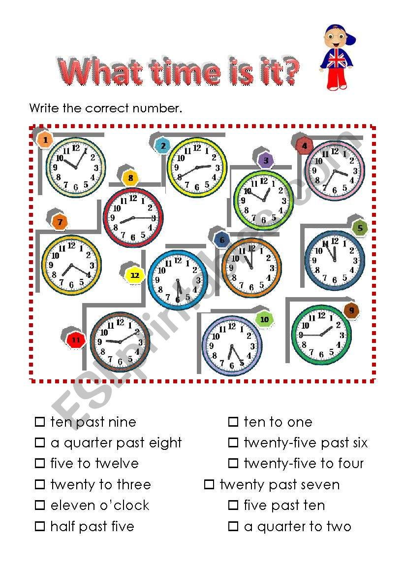 Time worksheet worksheet