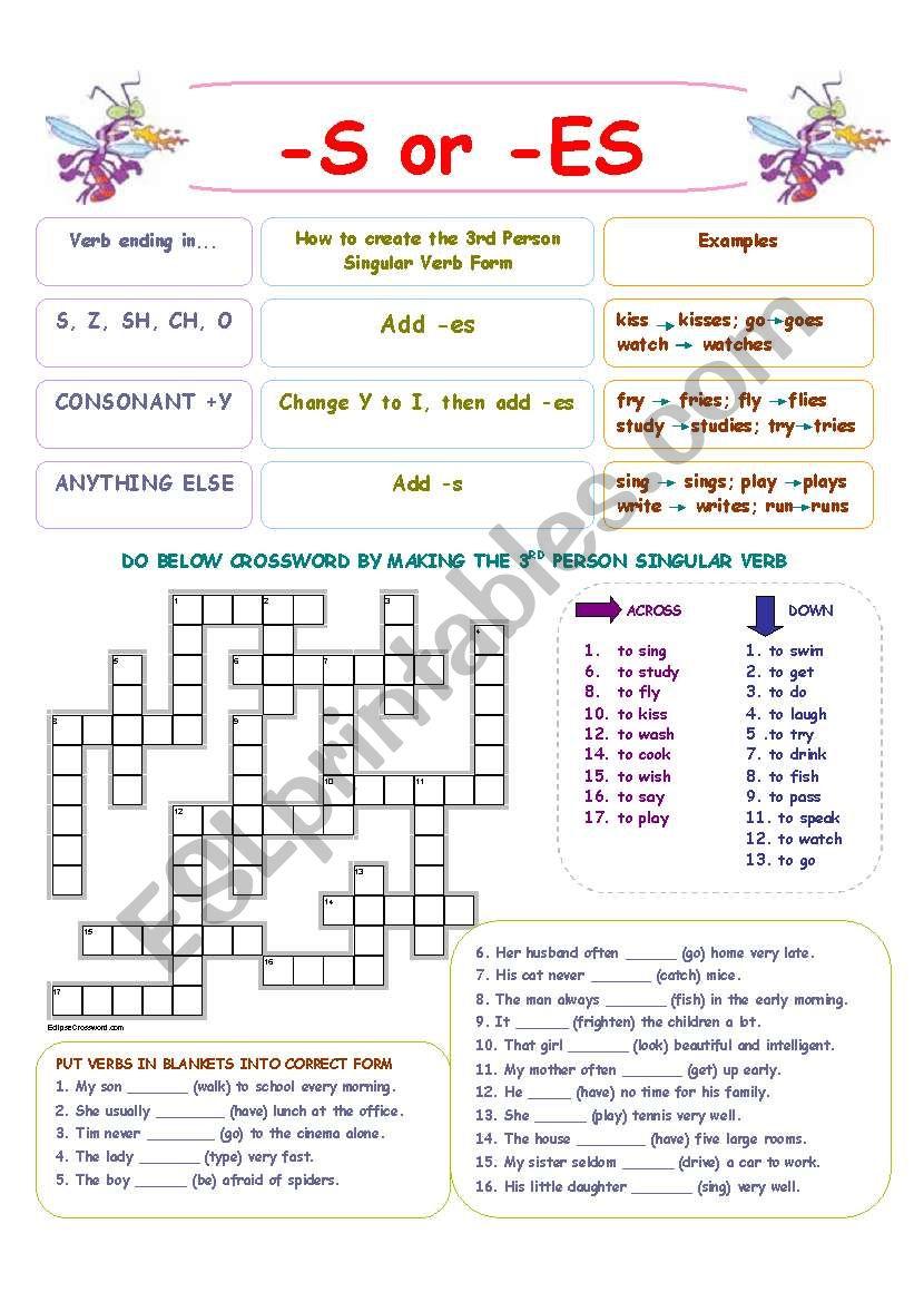 Verb Form (simple present) worksheet