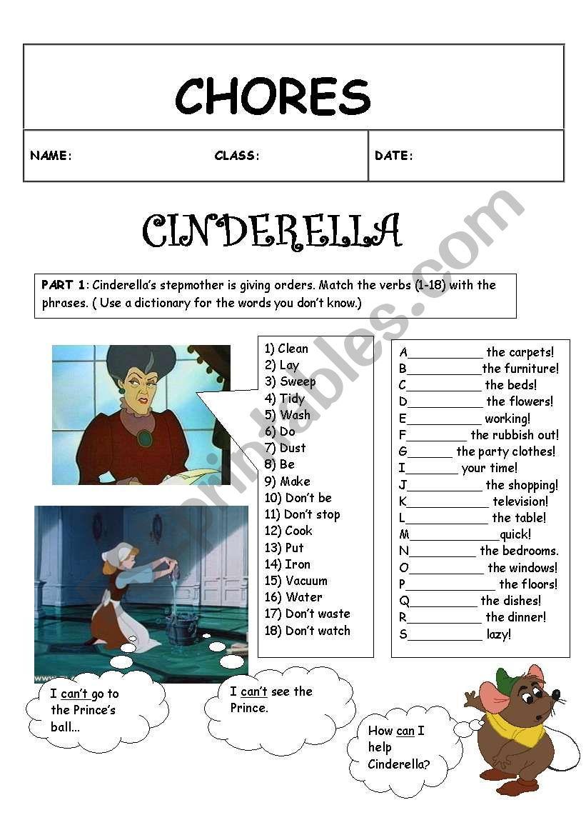 chores worksheet