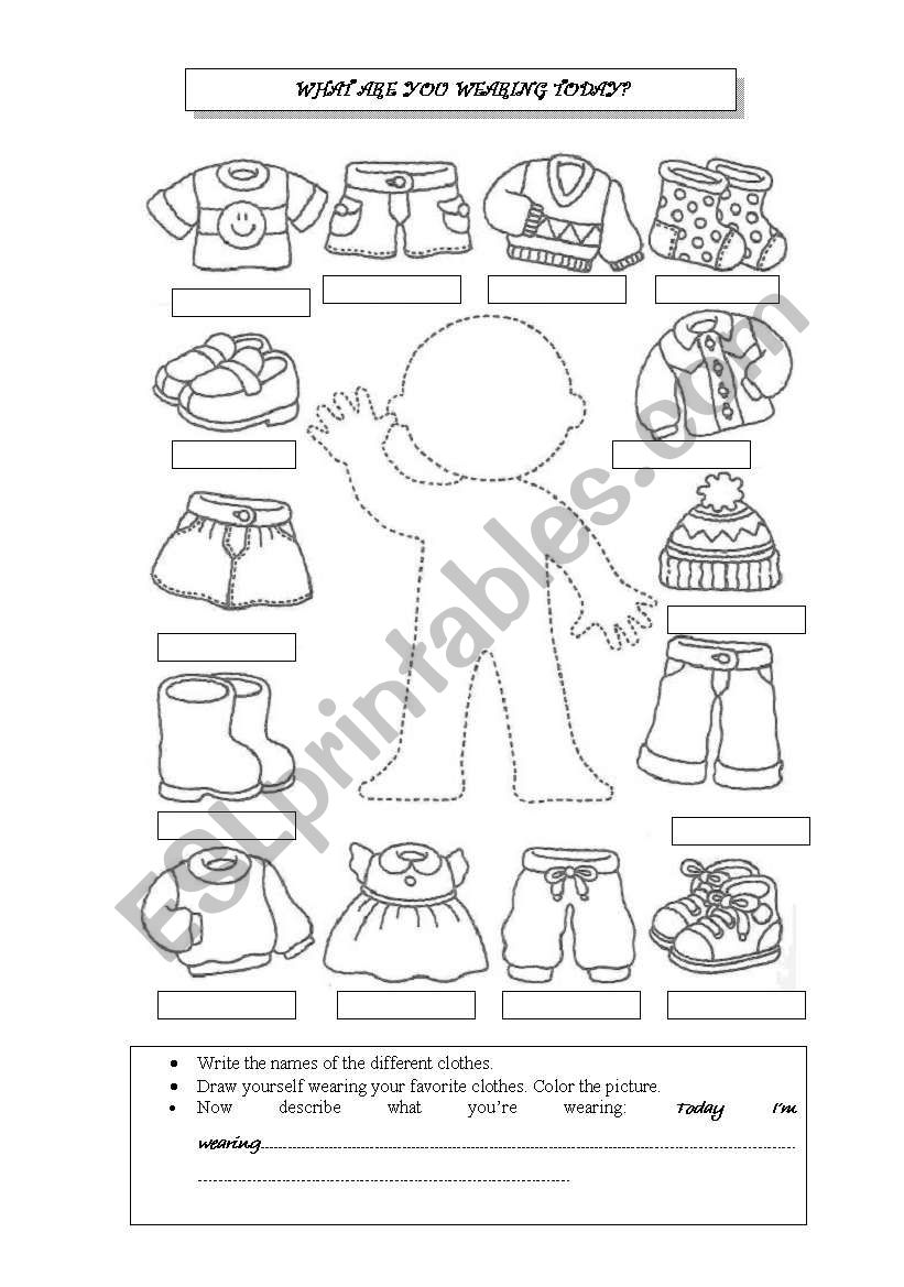 What are you wearing today? worksheet