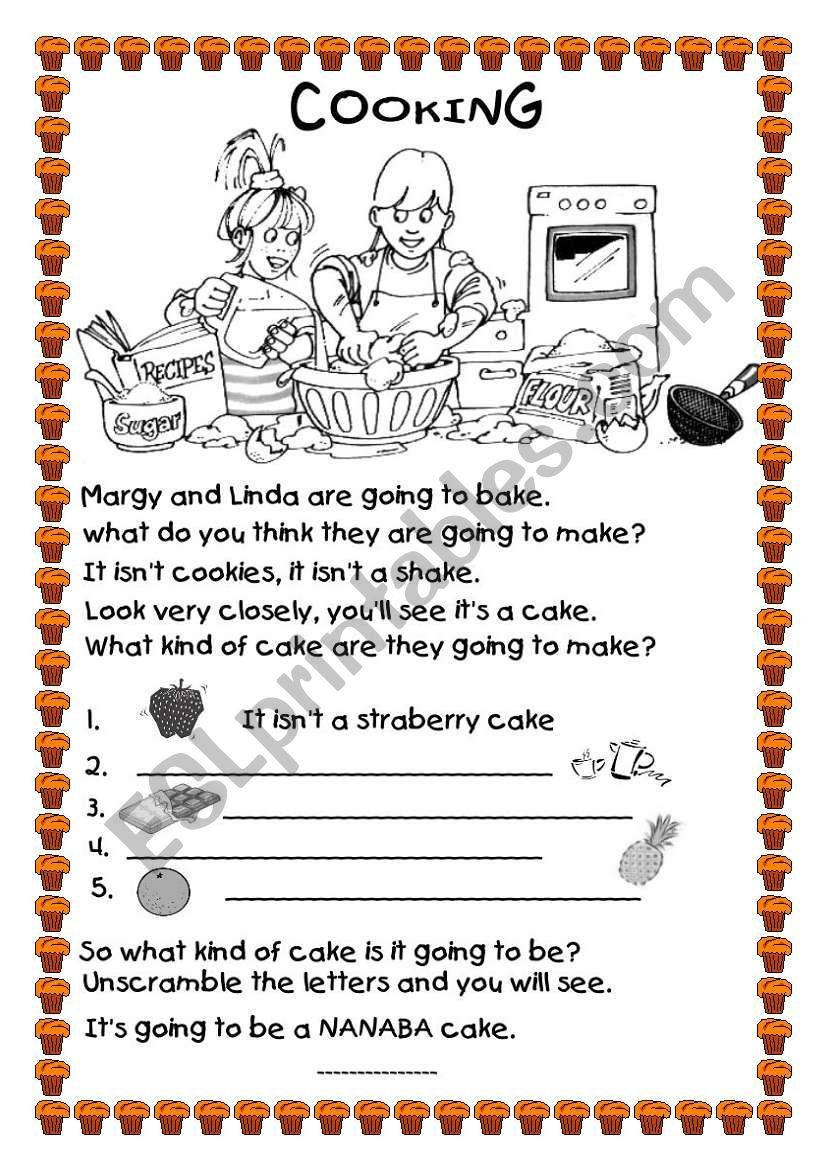 COOKING A CAKE worksheet