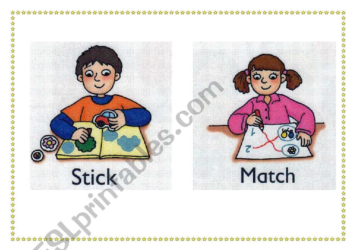 classroom flashcards 4 worksheet