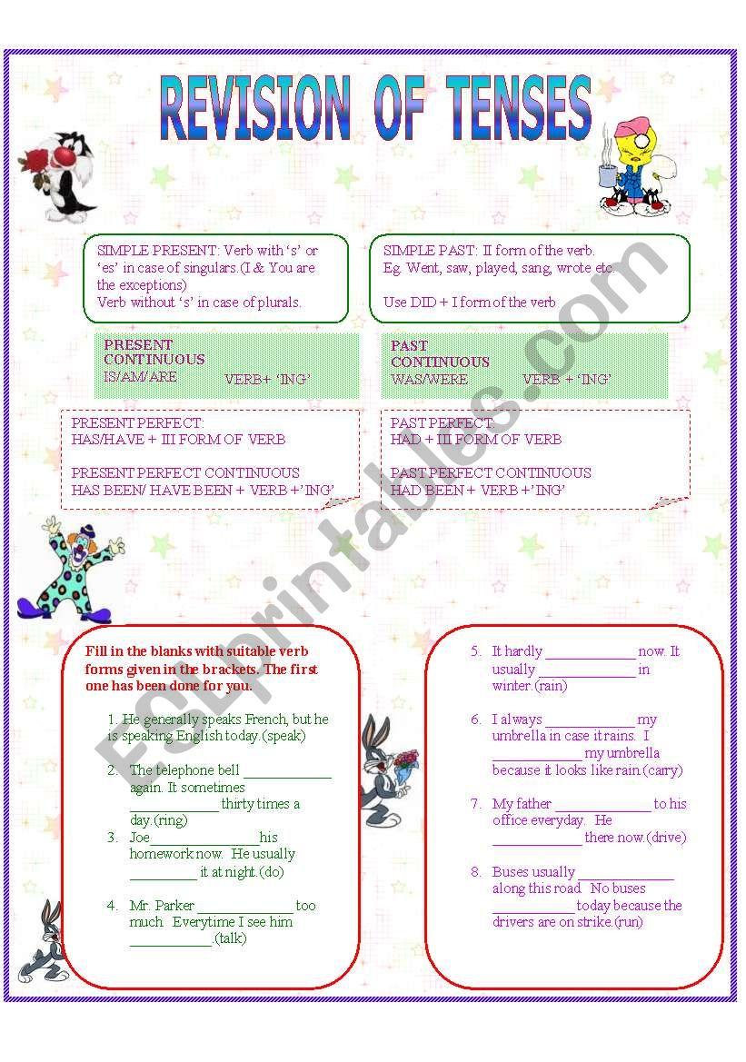 tenses ( 17-09-08) worksheet