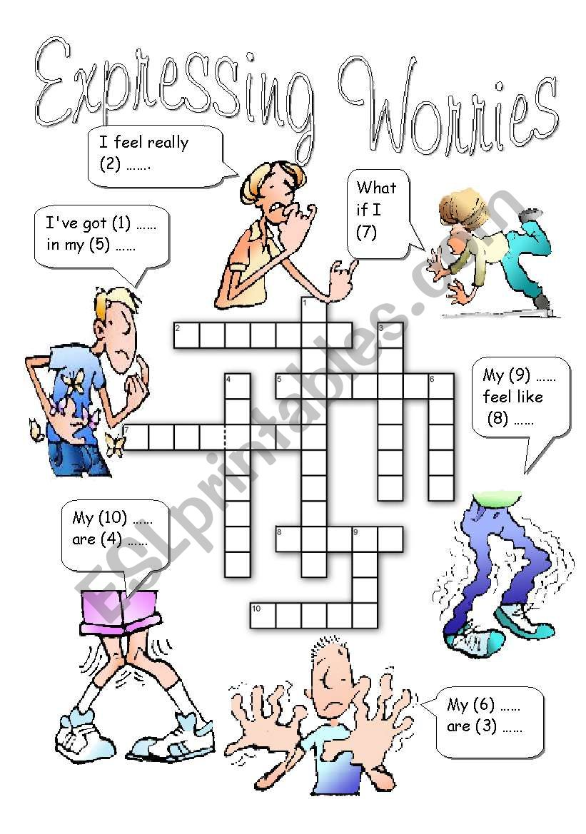 Expressing Worries worksheet