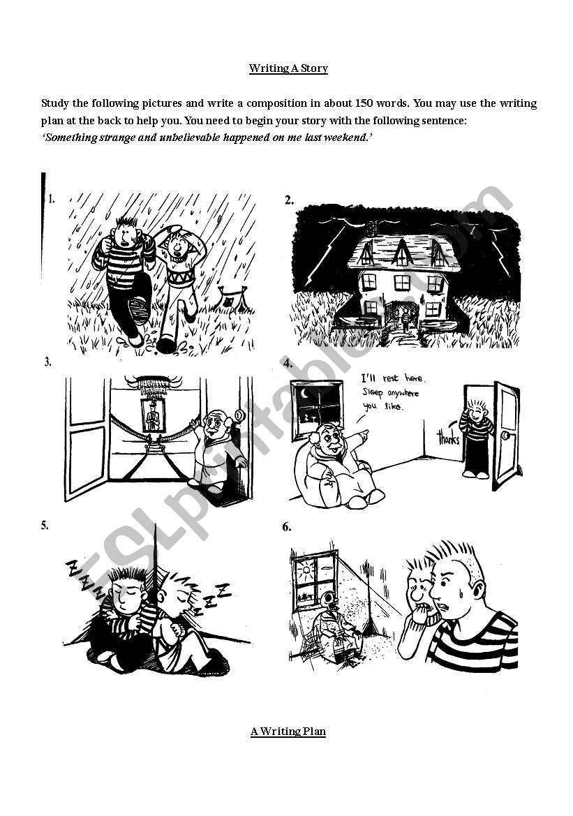 Story writing - ESL worksheet by peg1