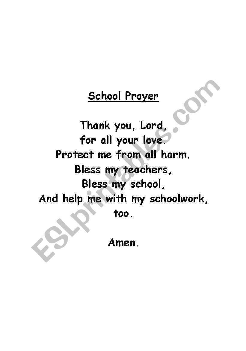 Prayer in schools thesis
