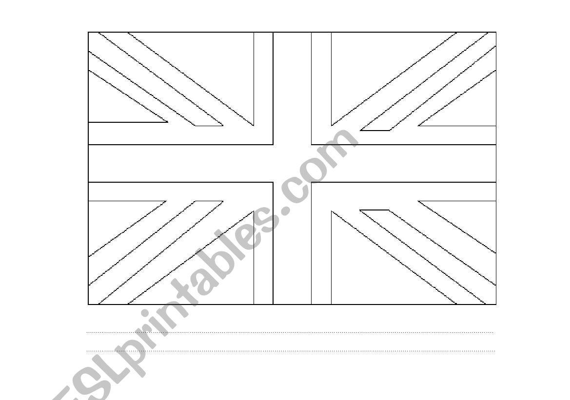 Union Jack flag worksheet