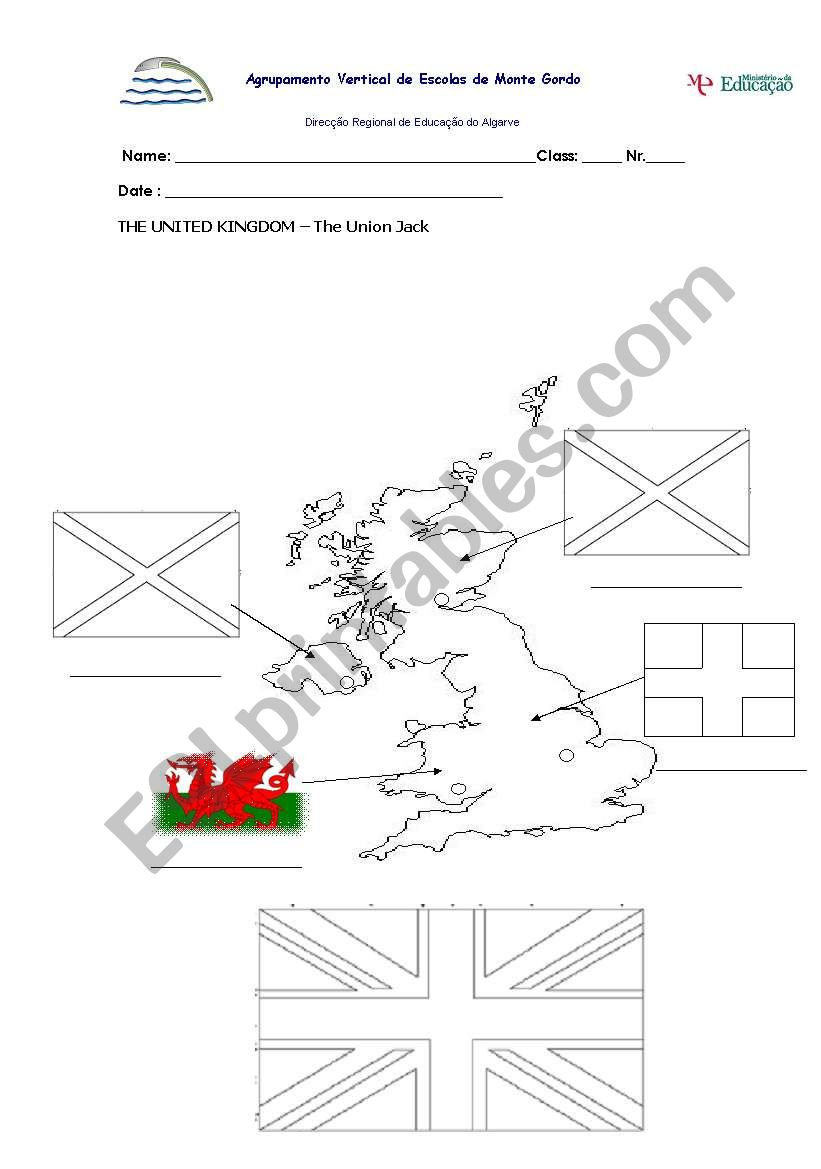 THE UK- UNION JACK worksheet
