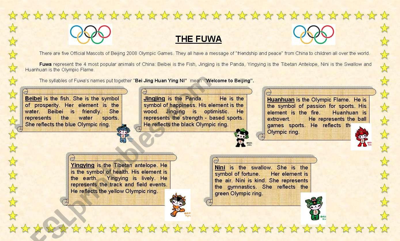 The Fuwa (complete worksheet) worksheet