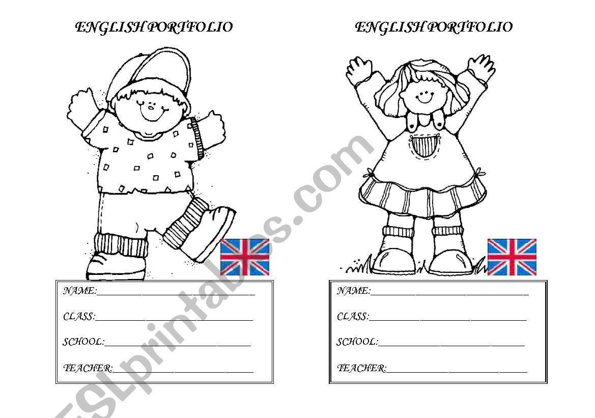 English Portfolio ID worksheet