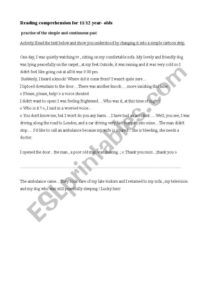 a late visitor worksheet