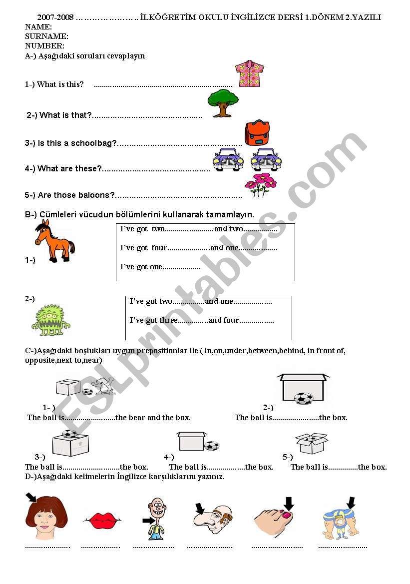 4th grade english worksheets