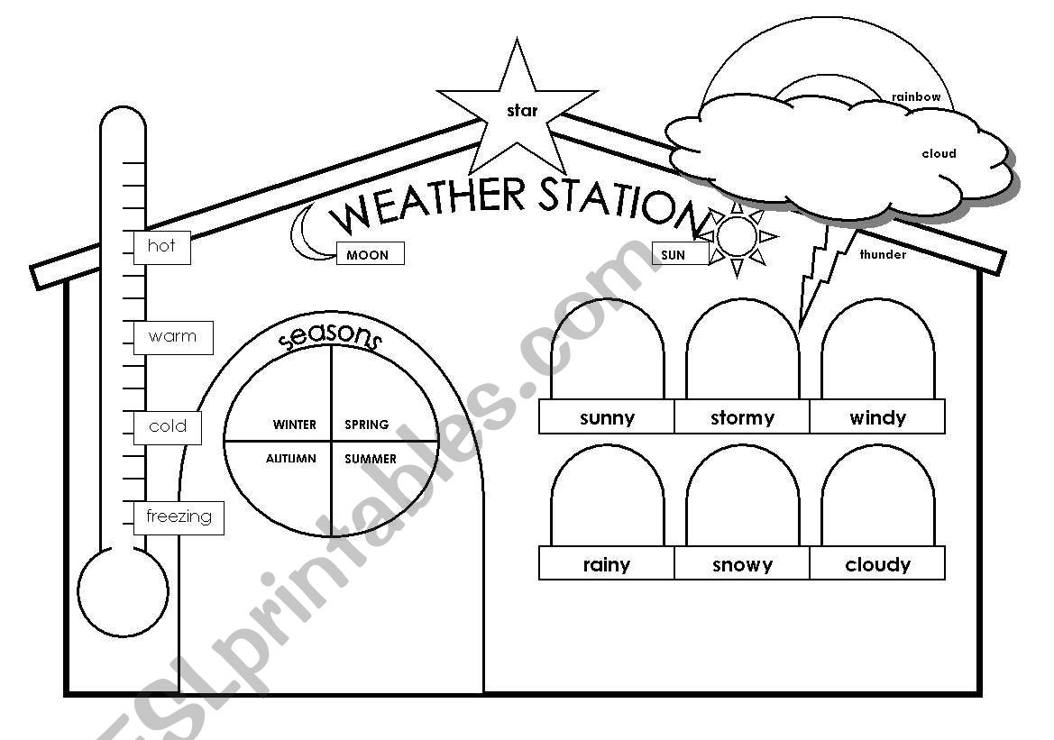 weather station esl worksheet by spanishteacher. Black Bedroom Furniture Sets. Home Design Ideas