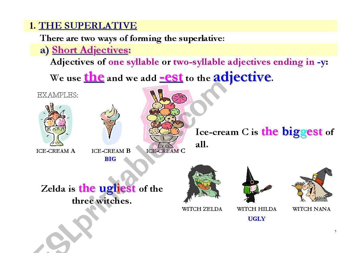 superlatives flashcards esl worksheet by pmca