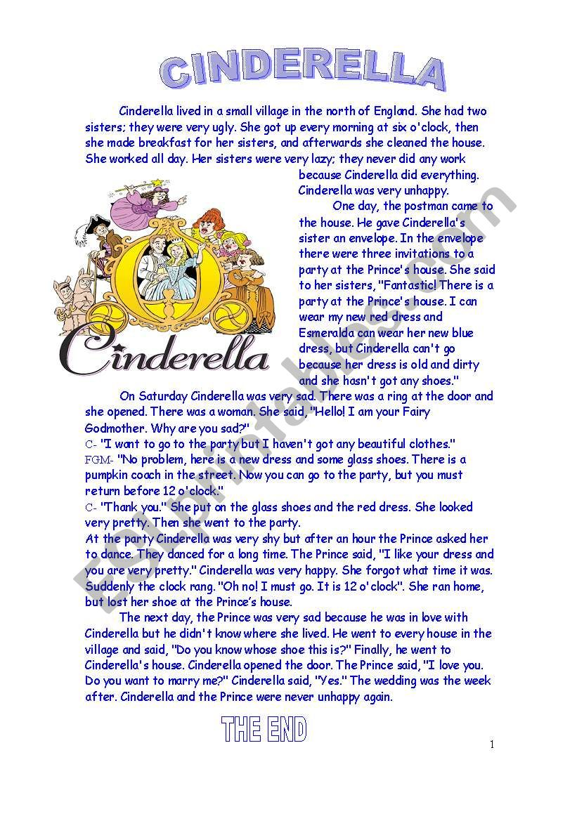 It's just a graphic of Genius Cinderella Story Printable
