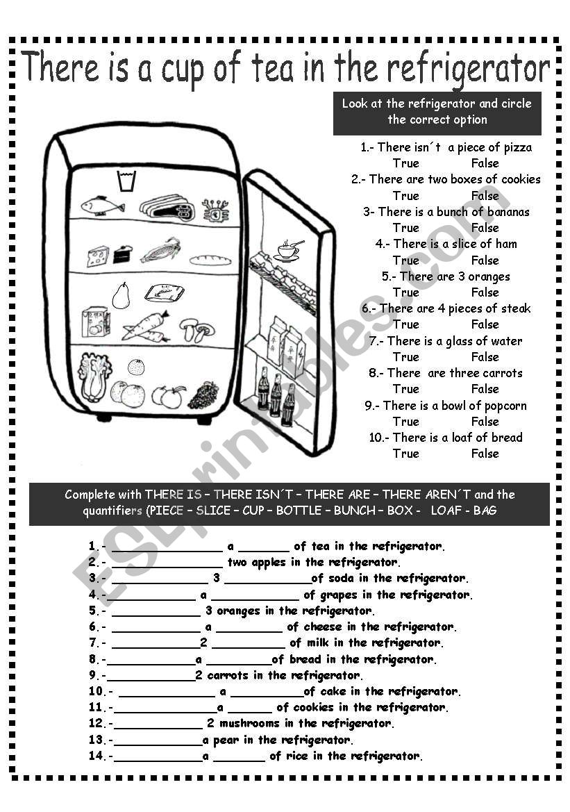 THERE IS/ARE AND QUANTIFIERS worksheet