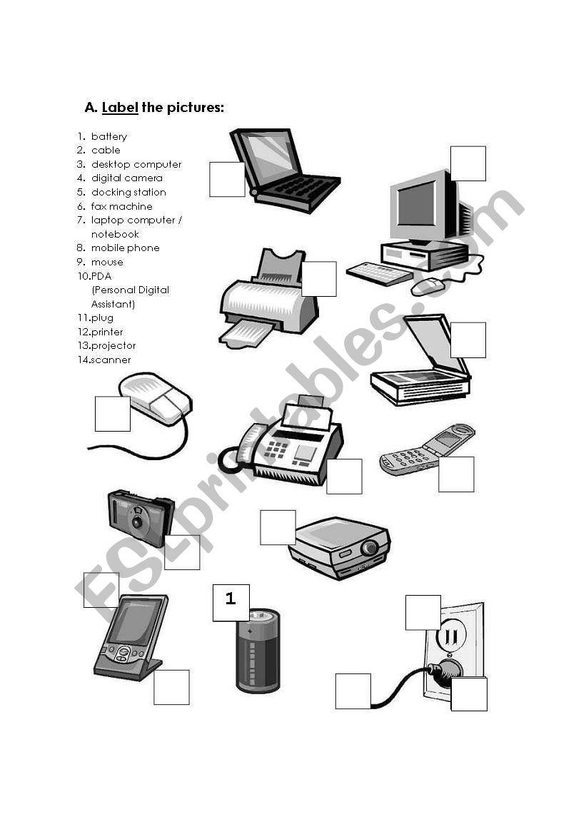 Worksheets Computer Hardware Worksheet computer hardware esl worksheet by chat worksheet
