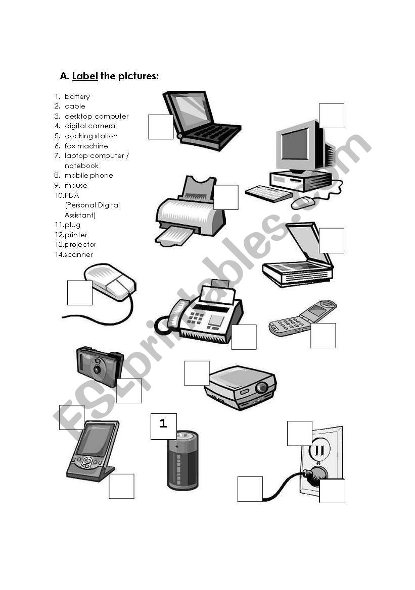 Computer Hardware worksheet