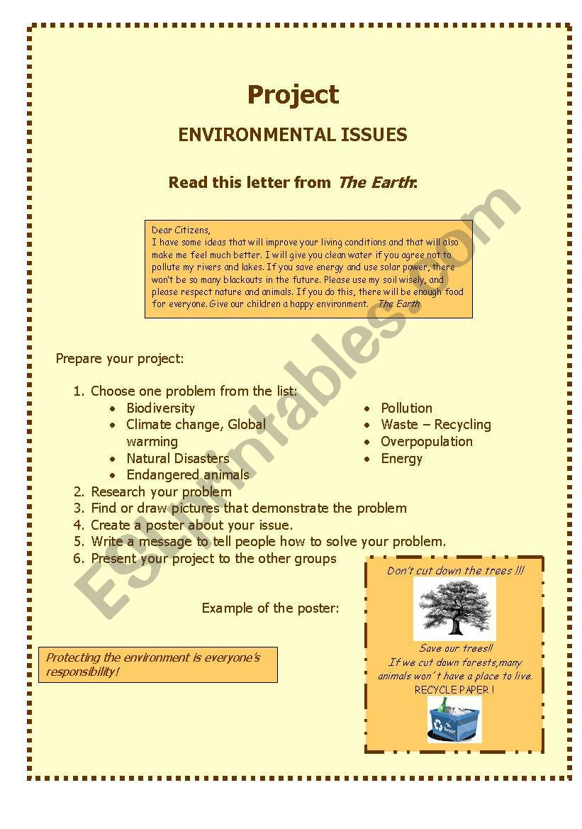 PROJECT _ ENVIRONMENT worksheet