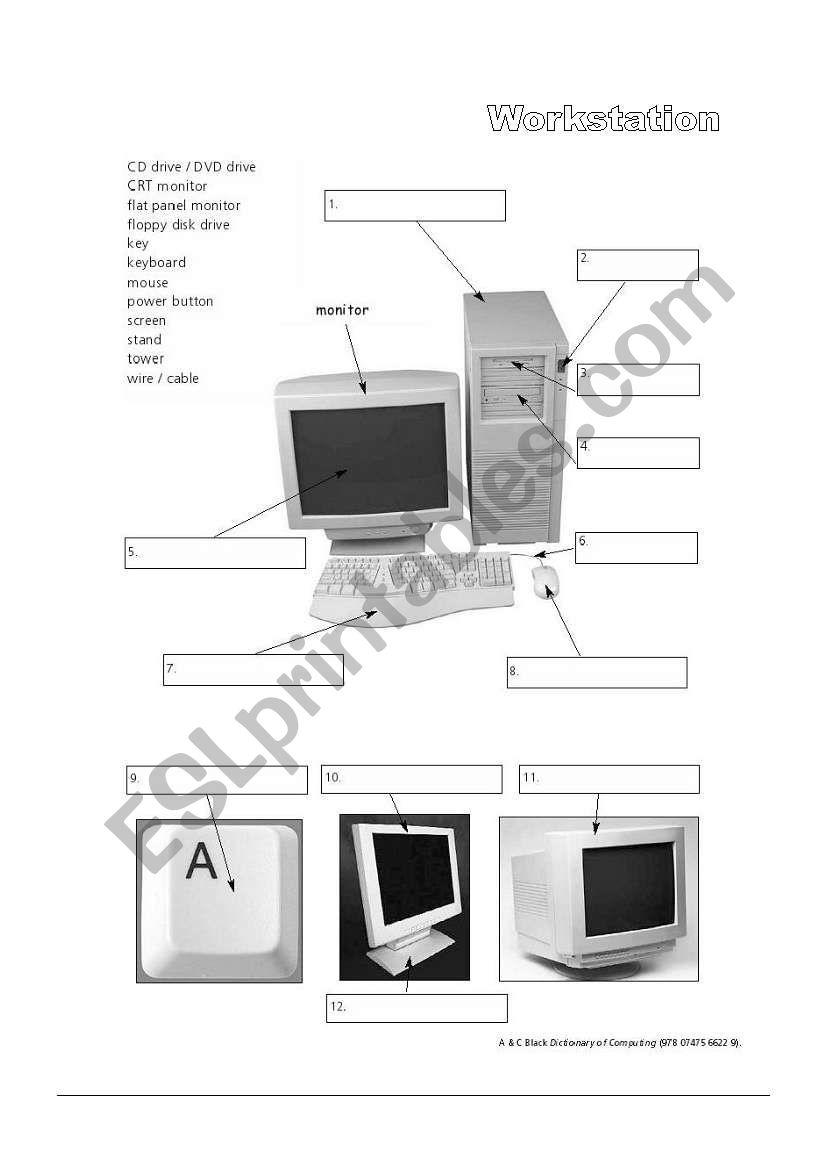 Workstation (PC Computer) worksheet
