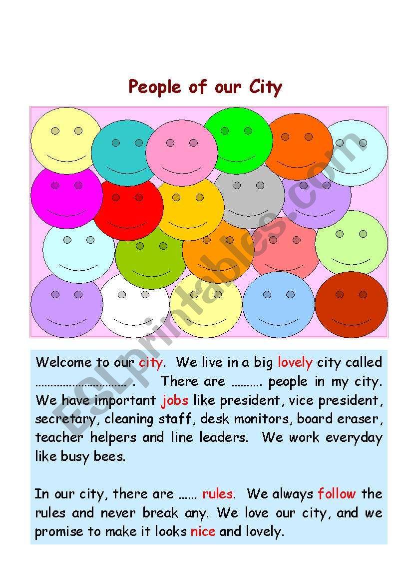 Classroom Poster worksheet