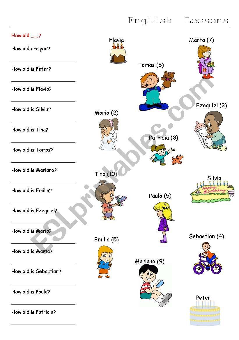 HOW OLD worksheet