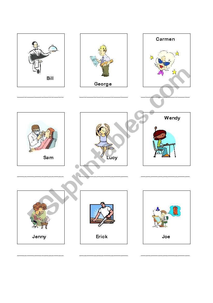 Occupations 2 of 2 worksheet