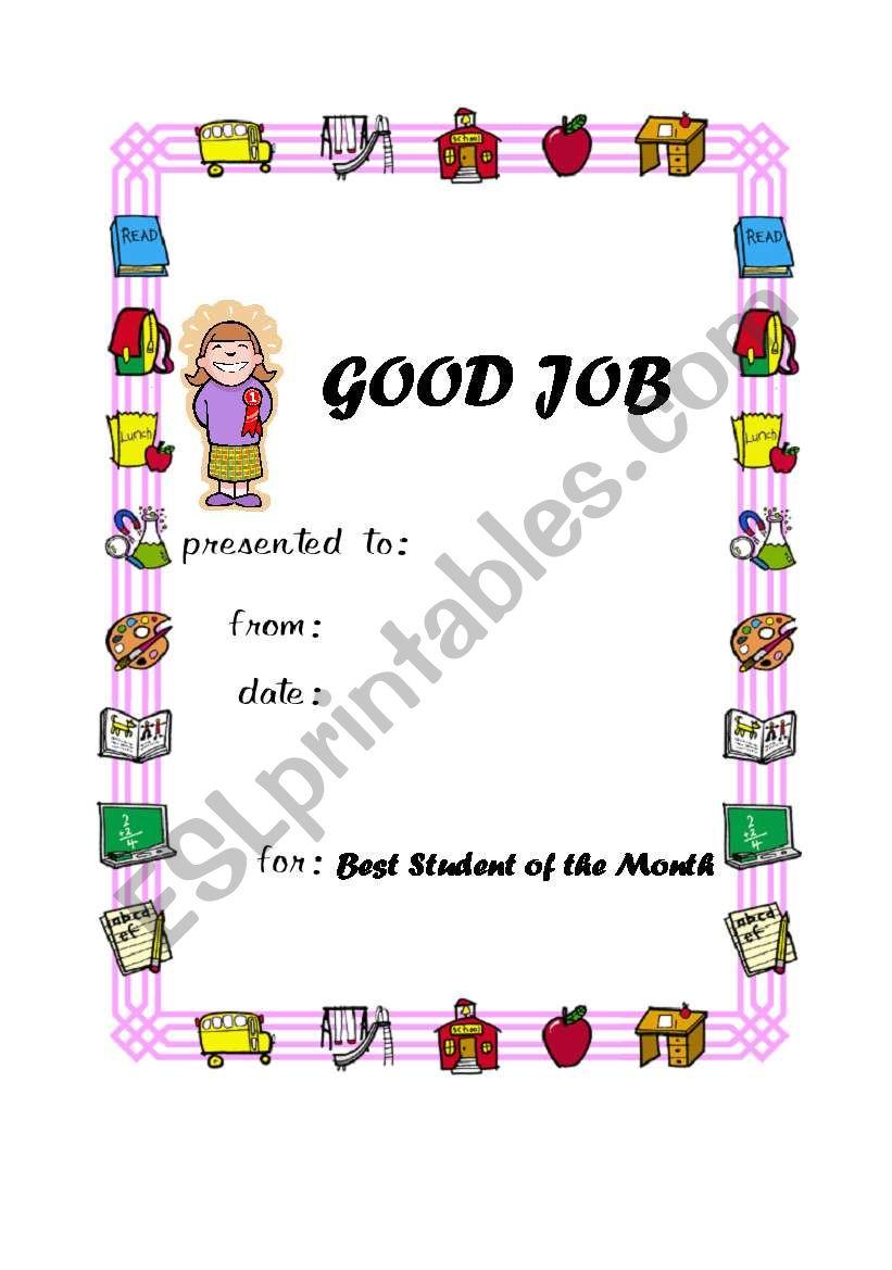 Award 2 worksheet