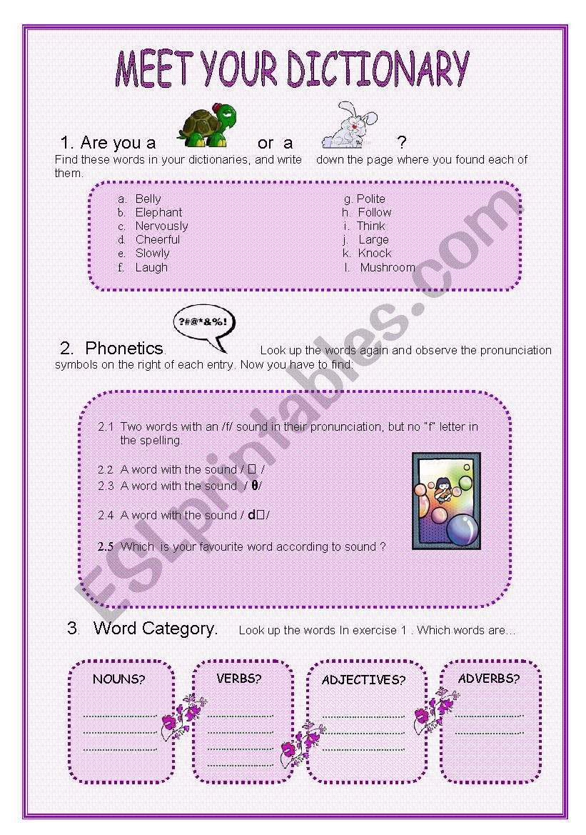 worksheet Dictionary Skills Worksheet english worksheets dictionary skills worksheet