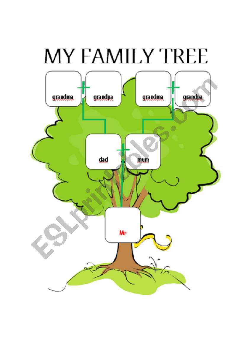 Family tree worksheet esl