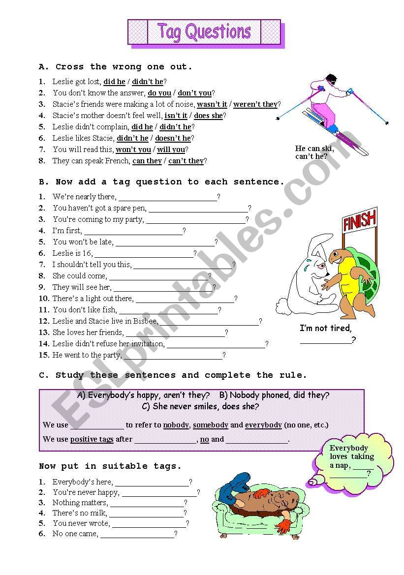 Tag Questions worksheet