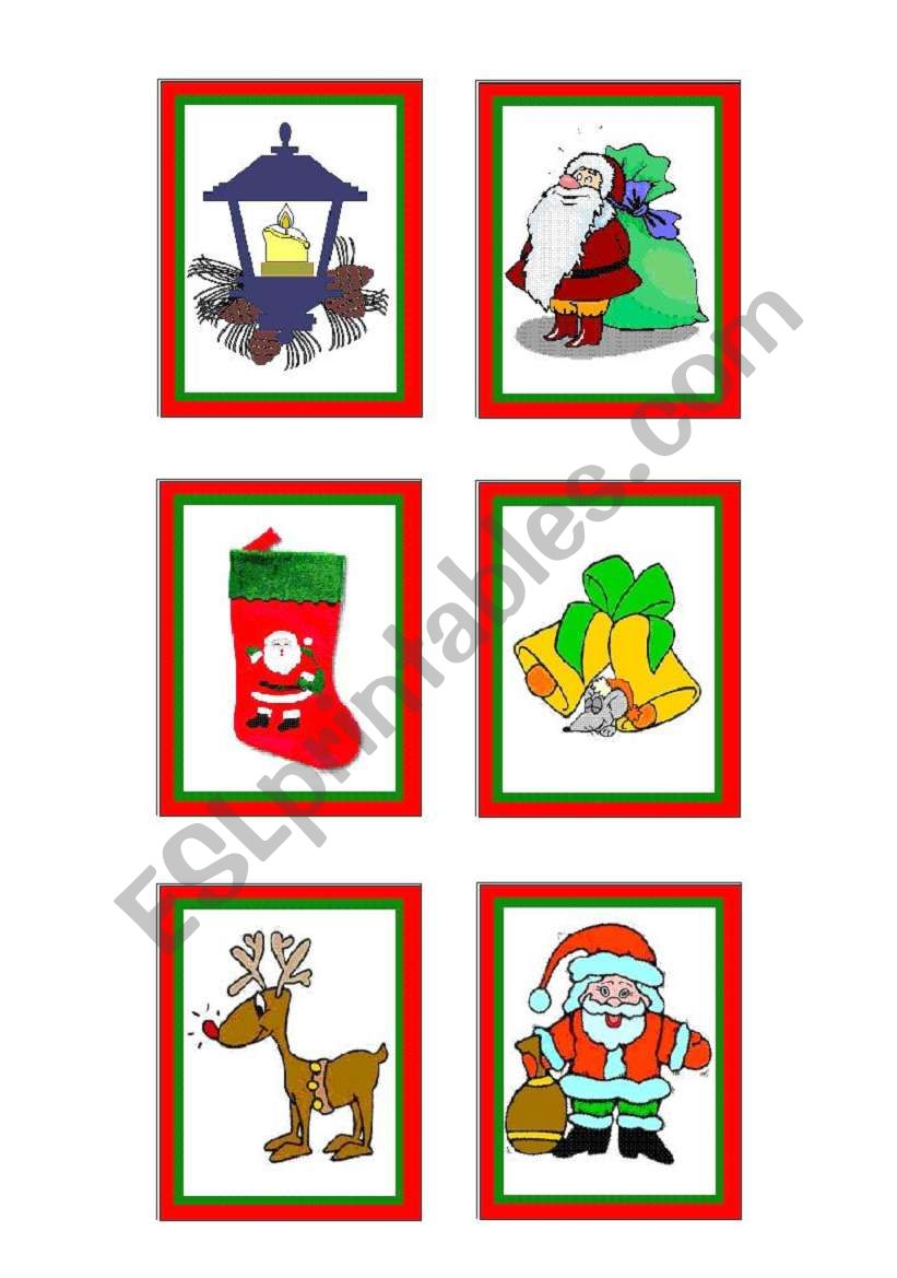 christmas-cards 2 - 10 worksheet
