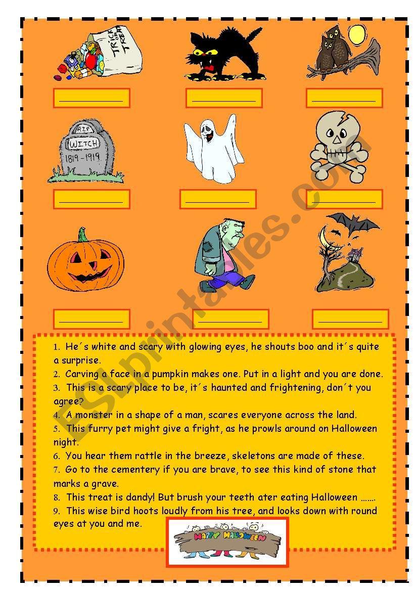 Halloween vocabulary (riddles)