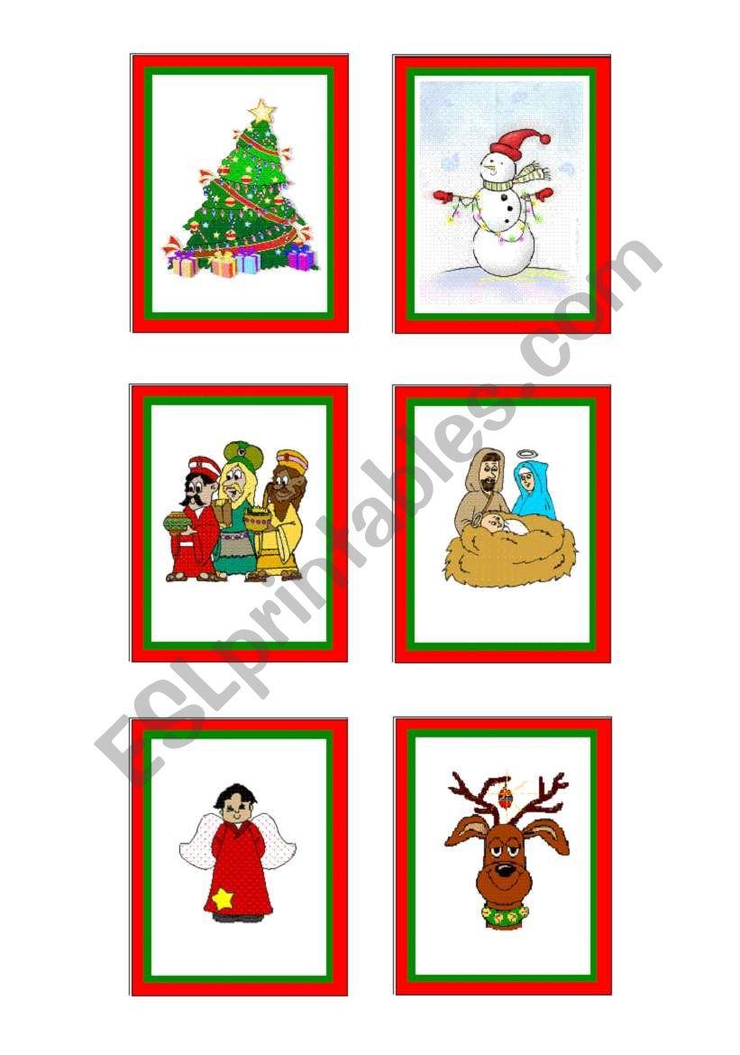Christmas-cards 04 - 10 worksheet