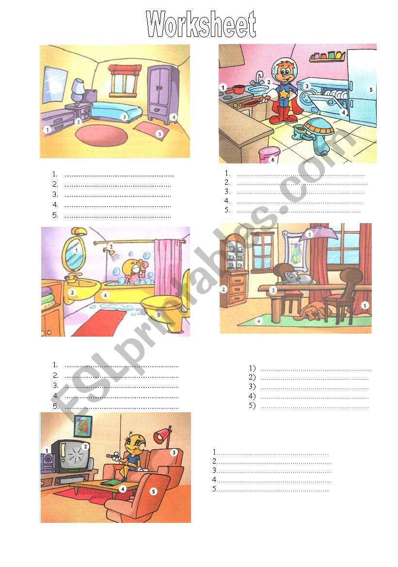 Furniture - Worksheet worksheet